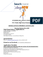 College Now Summer 2014 Application
