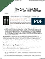 Weaving Metal Clay Paper Tutorial