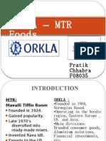 Orkla-MTR Foods Deal