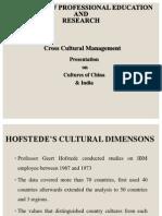 Culture of INDIA & CHINA