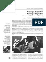 Artigo - Psicologia Da Saúde X Psicologia Hospitalar (Definições E Possibilidades De Inserção Profissional)