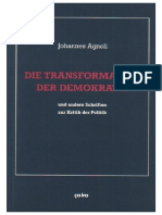 Johannes Agnoli - Band 1 - Die Transformation Der Demokratie