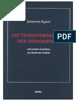 Johannes Agnoli - Band 1 - Die Transformation Der Demokratie