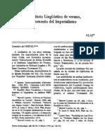 ALAI - El Instituto Lingüístico de verano,  instrumento del Imperialismo