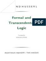 Husserl Trans. Cairns - Formal and Transcendental Logic