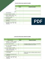 Lista de Cotejo Del Diario de Campo
