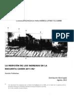 CEPAL La Medicion de Los Ingresos CASEN 2011