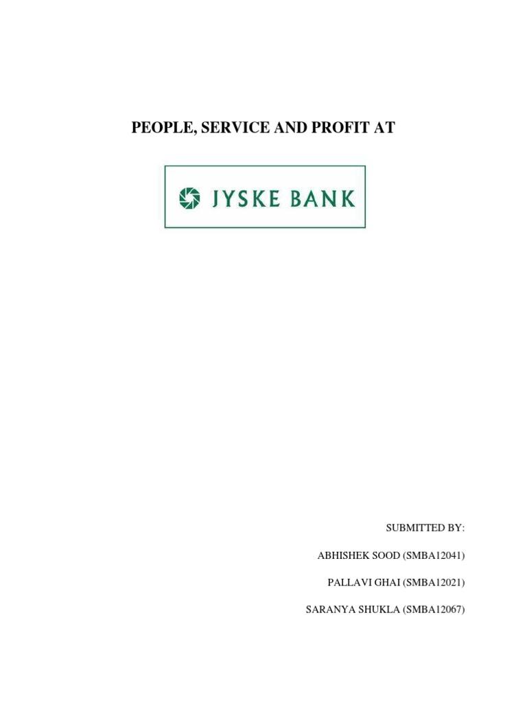 jyske bank case study solution