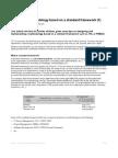 Create Your Methodology Based On A Standard Framework - Part 1