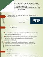 Território desenvolvimento econômico e globalização