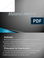 Motorul Electric Proiet Fizica