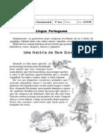 Texto Dom Quixote-Atividades