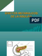 efectos metabólicos de la insulina