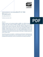 NTIA Broadband Availability in the Workplace Report Nov 2013