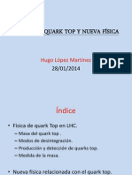 Física del quark top y nueva física