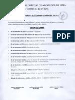 Comite Electoral Cronograma Elecciones