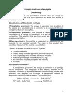 Gravimetric analysis...