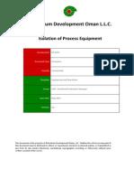 PR-1076 - Isolation of Process Equipment Procedure