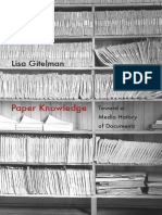 Paper Knowledge by Lisa Gitelman