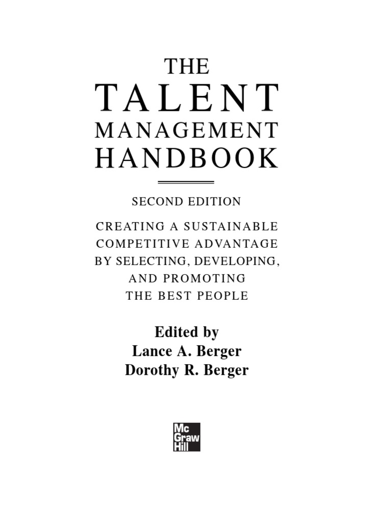 Talent Management Handbook Preview | Talent Management | Competence (Human  Resources)