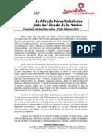 Discurso Rubalcaba Den 2014