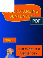 The Parts of a Sentence