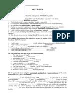 Test Paper (Intermediate Level)