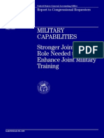 Military Capabilities Stronger Joint Staff Role