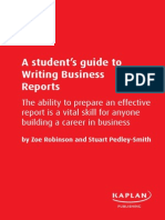 Student Guide Writing Reports Prelims Chapter 1