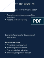 Govt. Influence on IB
