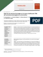 Clasificacion TNM del carcinoma bronocgénico no microcítico