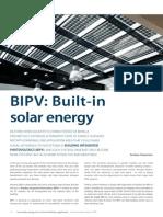 BIPV Built-In Solar Energy