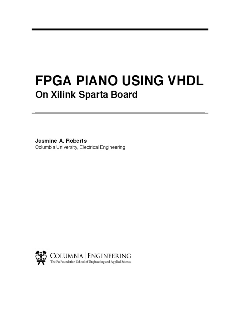 VHDL Piano using Xilink Sparta Board | Vhdl | Field Programmable