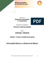 TTG Unidad 1. Teorias y Dinamicas de Grupo