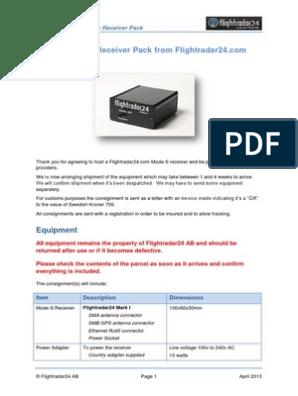 Flight Radar 24 Instruction Set | Modem | Coaxial Cable
