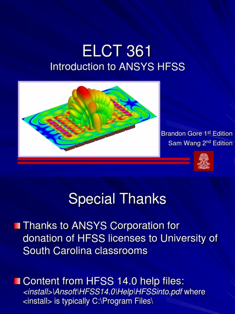 Introduction to ANSYS HFSS | Waveguide | Electrical Engineering