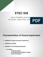 visual disability etec 535