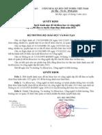 QD Phe Duyet Danh Muc de Tai KHCN Cap Bo Nam 2013