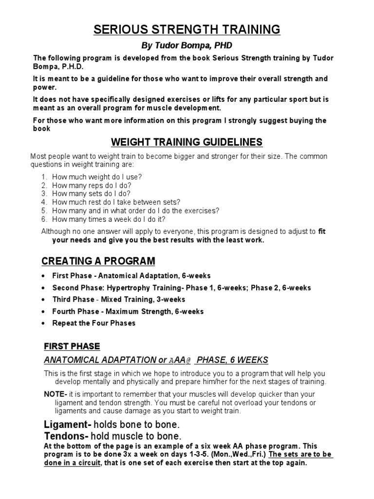 Serious Strength Training Tudor Bompa Ebook