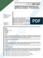 NBR 14847 - 2002 - Inspecao de Servicos de Pintura Em Superficies Metalicas - Procedimento