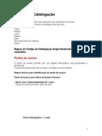 BIBLIOTECONOMIA - Manual de Catalogação regras resumidas AACR2