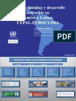 Cambio climatico y desarrollo sostenible en  América Latina