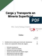 Carga y transporte en minería superficial