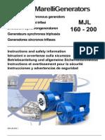 Marelli alternator MJL 160 - 200