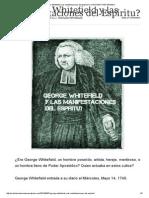 ¿George Whitefield y las manifestaciones del Espíritu_ _ CRISTIANO REFORMADO