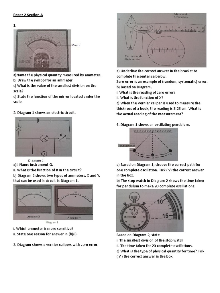 Past year questions f4 c1 pendulum scientific observation ccuart Images