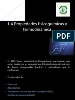 1.4 Propiedades fisicoquímicas y termodinamica
