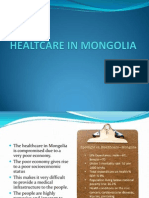 explaining the healthcare in Mongolia