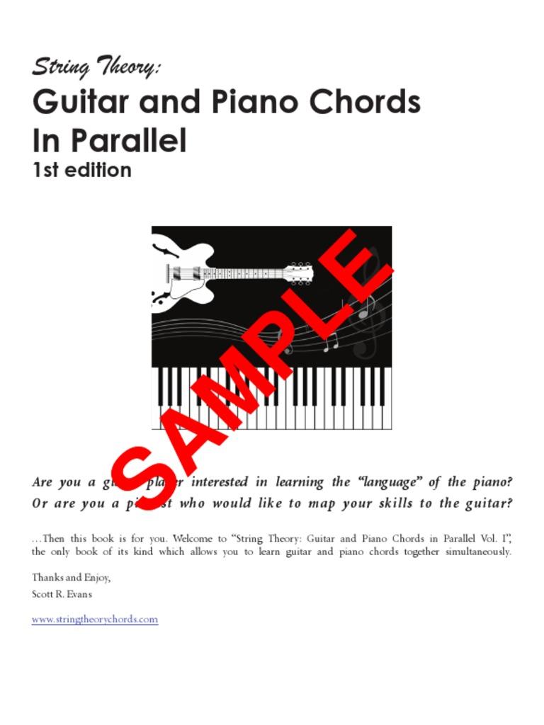 Guitar And Piano Chords Sample Popular Music Guitars
