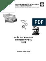 Guia de Primer Ingreso 2014- Mayo 2013